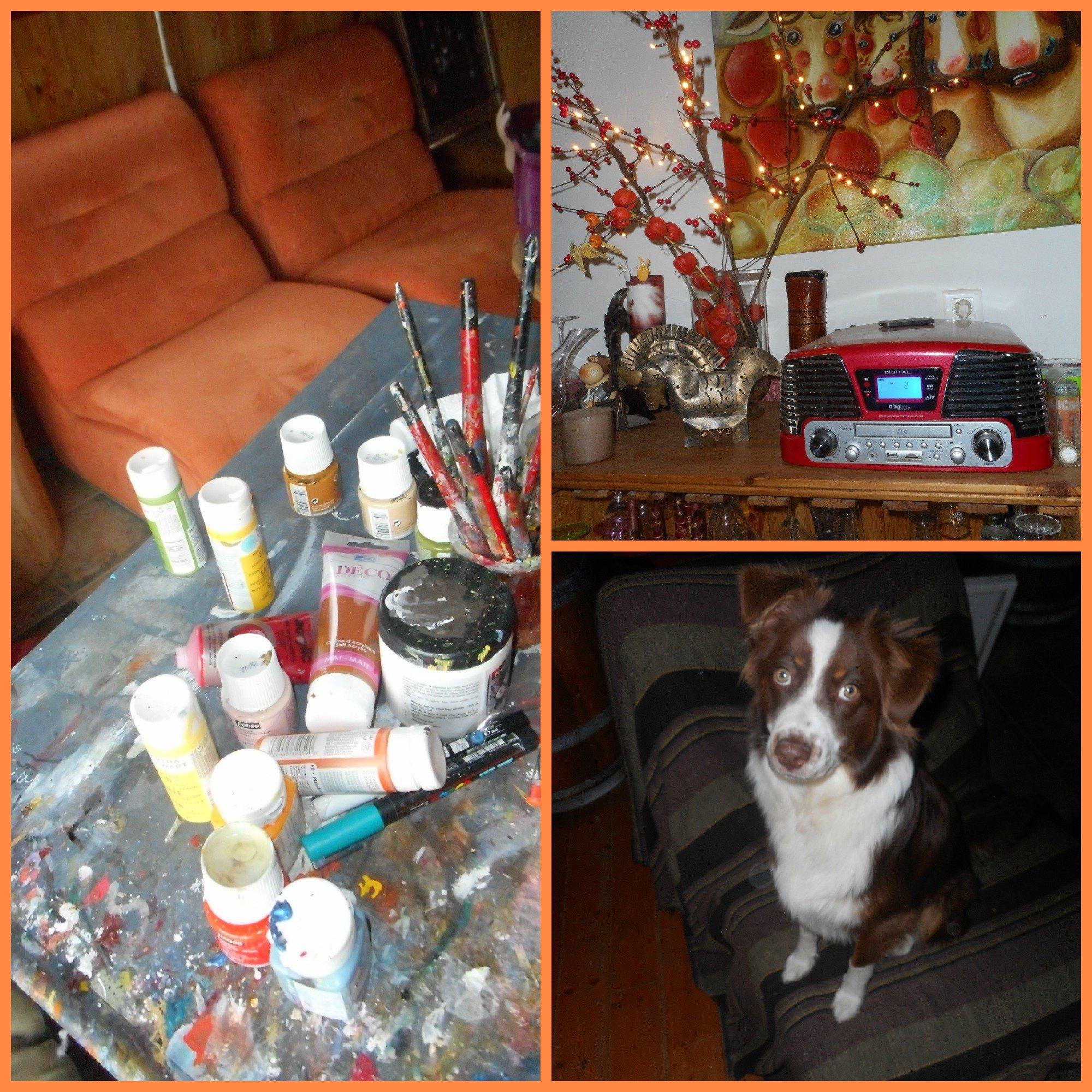 Retour l atelier peinture at karine m nez for Bureau en gros near me